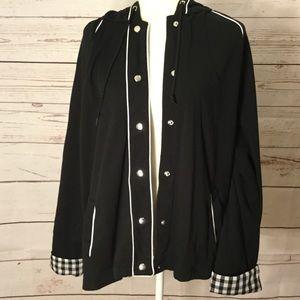 Dressbarn Jacket Plus 22/24 Black Gingham
